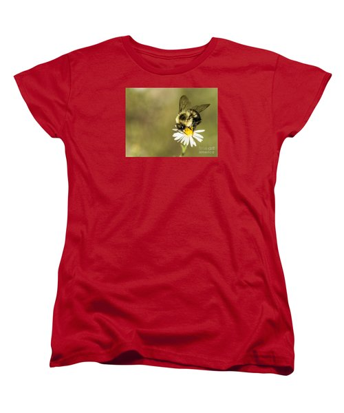Bumble Bee Macro Women's T-Shirt (Standard Cut) by Debbie Green