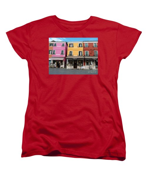 Women's T-Shirt (Standard Cut) featuring the painting Burano by Robin Maria Pedrero