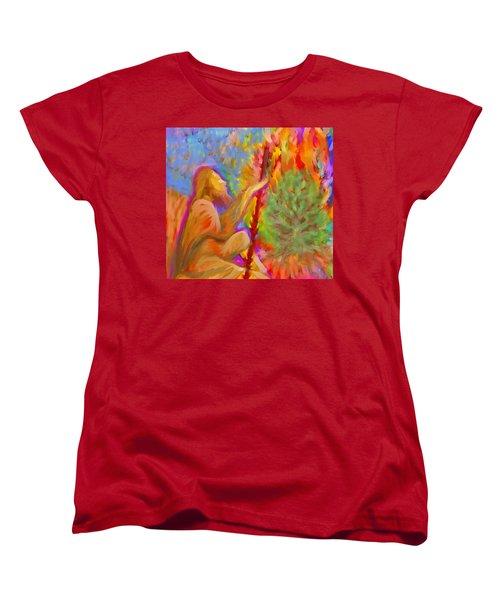 Burning Bush Of Yhwh Women's T-Shirt (Standard Cut) by Hidden  Mountain