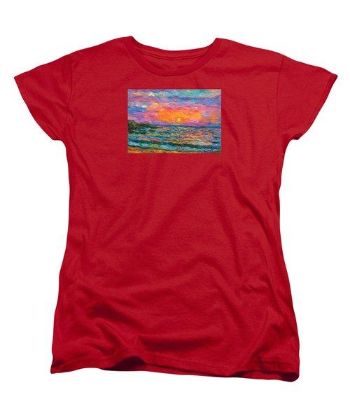 Burning Shore Women's T-Shirt (Standard Cut) by Kendall Kessler