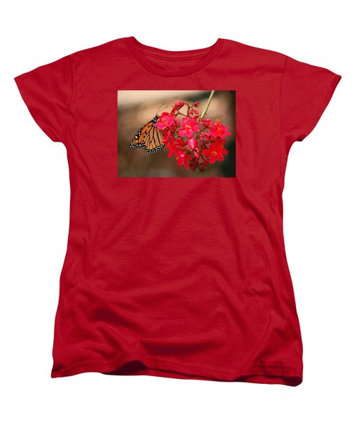 Women's T-Shirt (Standard Cut) featuring the photograph Butterfly 1 by Leticia Latocki