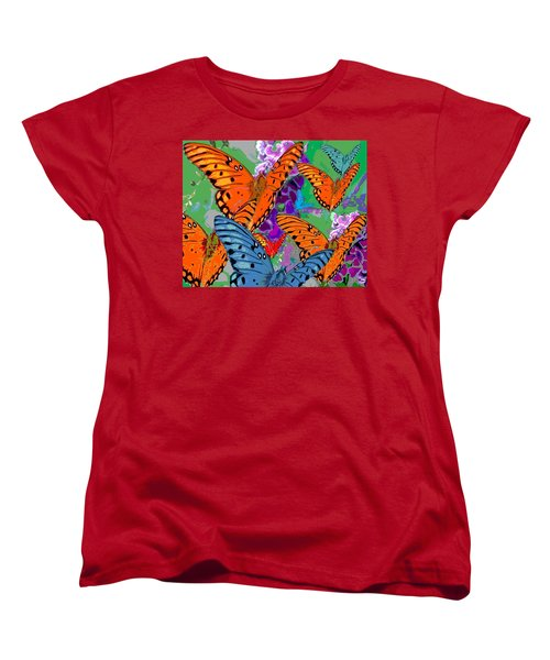 Butterfly Joy Women's T-Shirt (Standard Cut) by Mary Armstrong