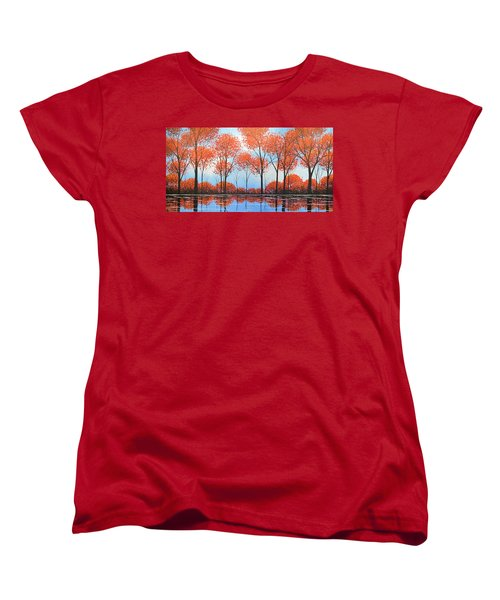 Women's T-Shirt (Standard Cut) featuring the painting By The Shore by Amy Giacomelli