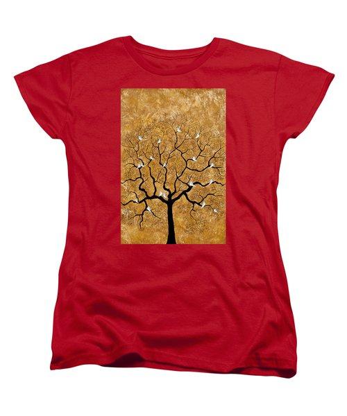 By The Tree Women's T-Shirt (Standard Cut) by Sumit Mehndiratta