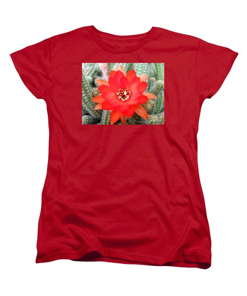 Cactus Flower Women's T-Shirt (Standard Cut) by Ramona Matei