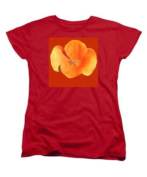 California Poppy Painting Women's T-Shirt (Standard Cut) by Bob and Nadine Johnston