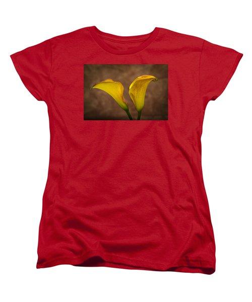 Women's T-Shirt (Standard Cut) featuring the photograph Calla Lilies by Sebastian Musial