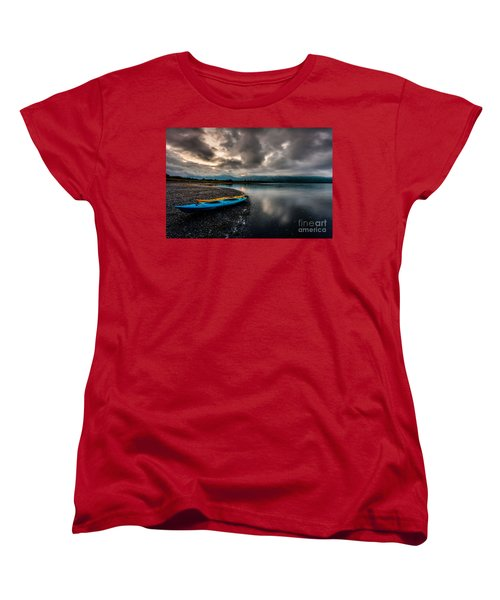 Calm Evening Women's T-Shirt (Standard Cut) by Steven Reed