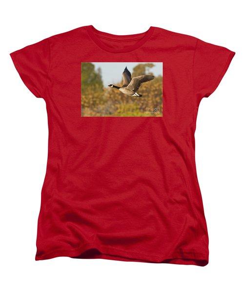 Canada Goose In The Skies  Women's T-Shirt (Standard Cut) by Bryan Keil