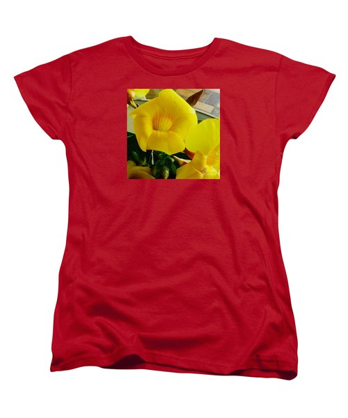 Canario Flower Women's T-Shirt (Standard Cut) by The Art of Alice Terrill