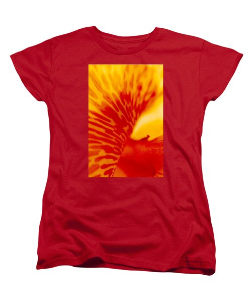 Women's T-Shirt (Standard Cut) featuring the photograph Canna Lilly by Michael Hoard