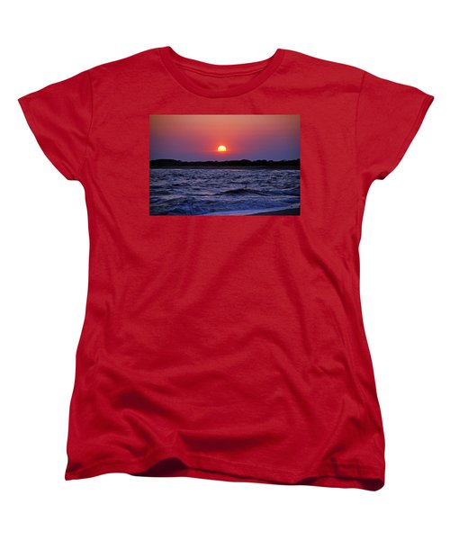 Cape May Sunset Women's T-Shirt (Standard Cut) by Richard Bryce and Family