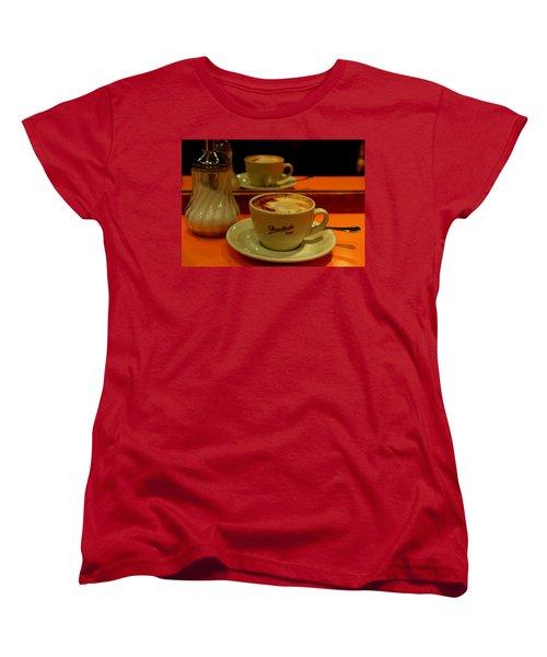 Women's T-Shirt (Standard Cut) featuring the photograph Cappuccino by Caroline Stella