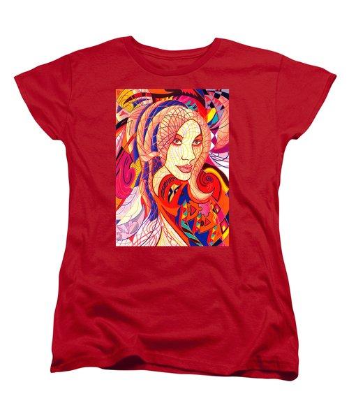 Carnival Girl Women's T-Shirt (Standard Cut) by Danielle R T Haney