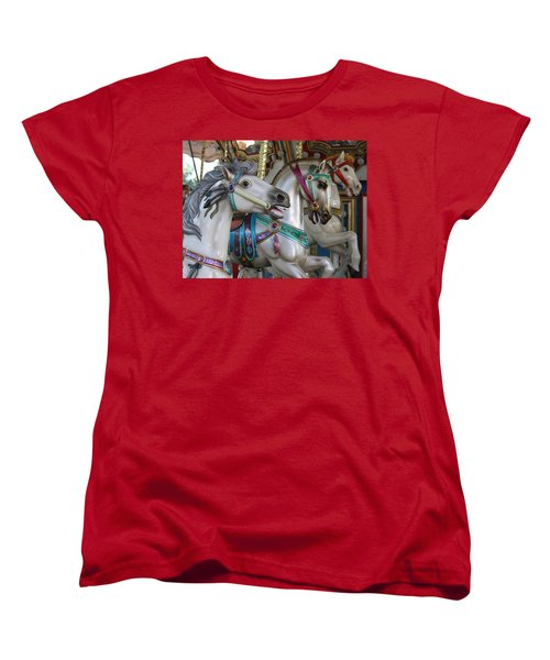 Carousel Women's T-Shirt (Standard Cut) by Donna Walsh