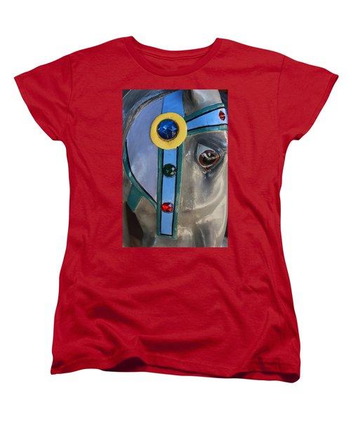 Women's T-Shirt (Standard Cut) featuring the photograph Carousel Horse by Diane Alexander