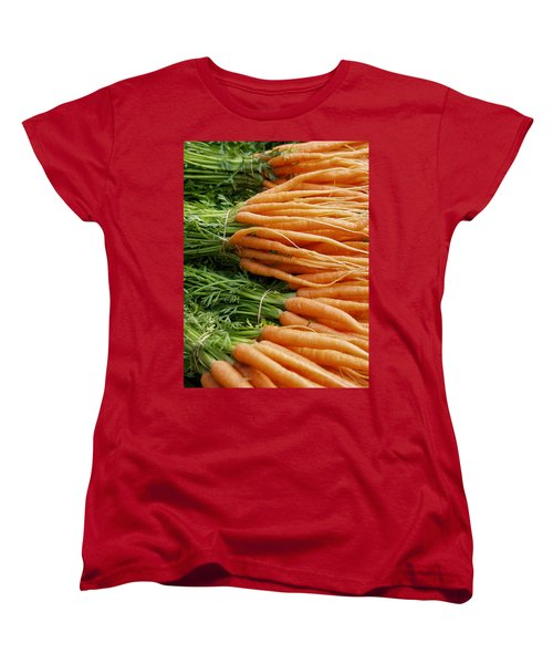 Carrots Women's T-Shirt (Standard Cut) by Ron Harpham