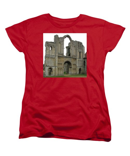 Women's T-Shirt (Standard Cut) featuring the photograph Castle Acre Abbey by Stephanie Grant