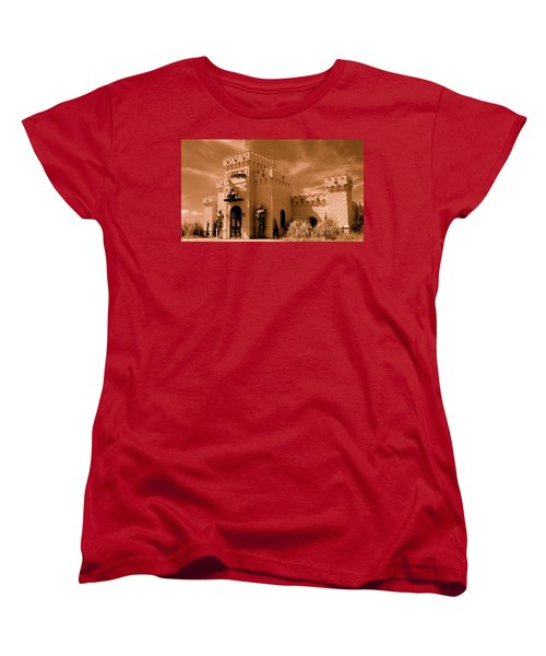 Women's T-Shirt (Standard Cut) featuring the photograph Castle By The Road by Rodney Lee Williams