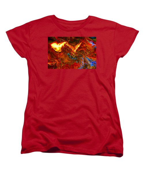 Women's T-Shirt (Standard Cut) featuring the digital art Cat And Caduceus In The Matmos by Richard Thomas