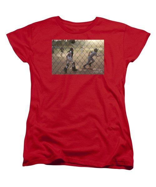 Catcher In Action Women's T-Shirt (Standard Cut) by Chris Thomas