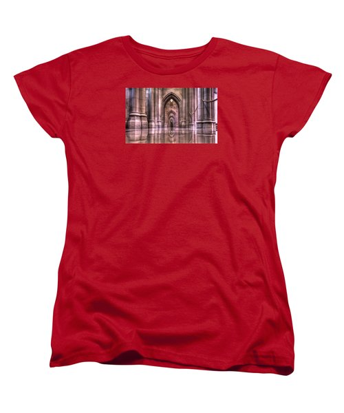Cathedral Reflections Women's T-Shirt (Standard Cut) by Shelley Neff