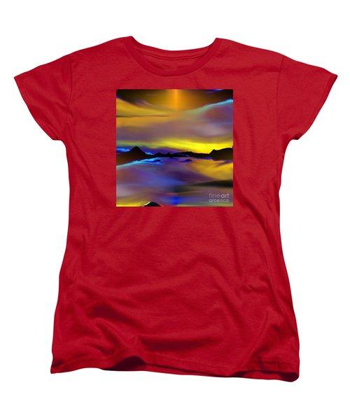 Women's T-Shirt (Standard Cut) featuring the painting Cebu Sunset by Yul Olaivar