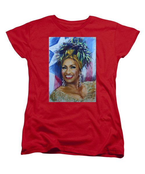 Celia Cruz Women's T-Shirt (Standard Cut) by Viola El
