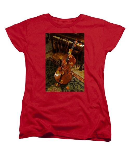Cello Autumn 1 Women's T-Shirt (Standard Cut) by Mick Anderson