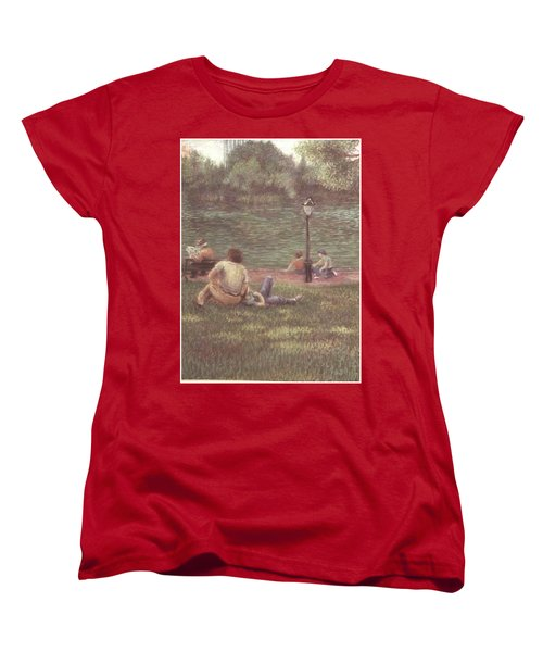 Women's T-Shirt (Standard Cut) featuring the painting Central Park Nyc by Walter Casaravilla