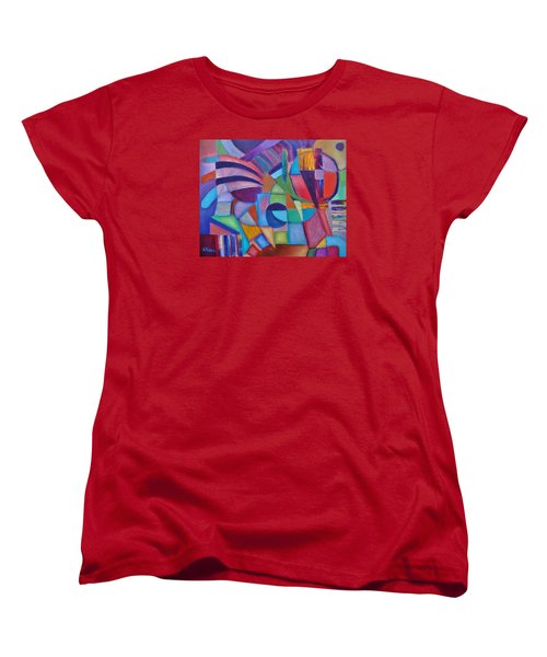 Women's T-Shirt (Standard Cut) featuring the painting Cerebral Decor # 2 by Jason Williamson