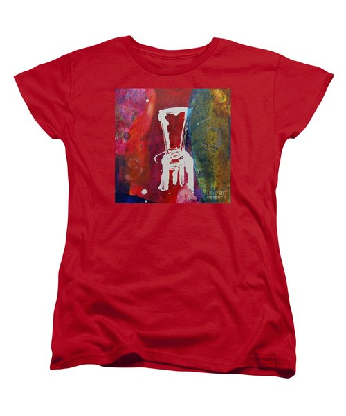 Women's T-Shirt (Standard Cut) featuring the painting Chair by Robin Maria Pedrero