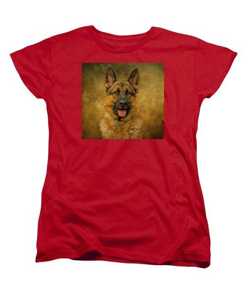 Chance - German Shepherd Women's T-Shirt (Standard Cut) by Sandy Keeton