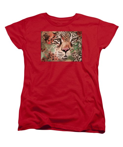 Cheetah In The Grass Women's T-Shirt (Standard Cut) by Renee Michelle Wenker