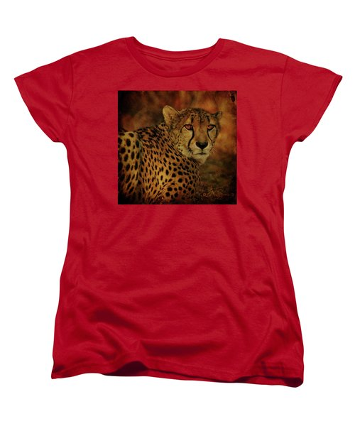 Cheetah Women's T-Shirt (Standard Cut) by Sandy Keeton