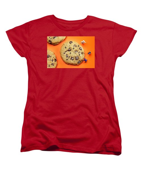 Women's T-Shirt (Standard Cut) featuring the photograph Chef Depicting Thomson Atomic Model By Cookies Food Physics by Paul Ge