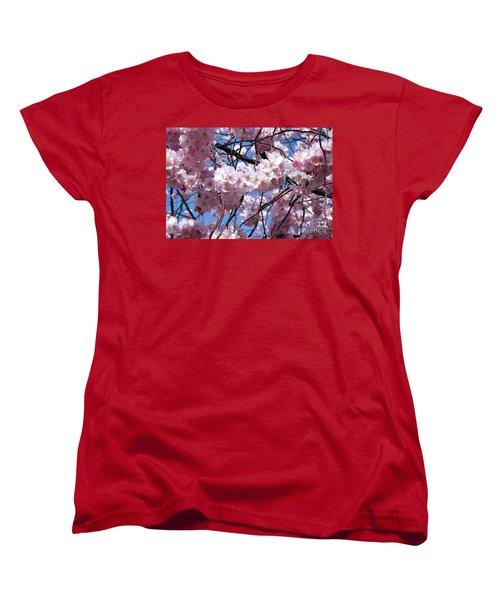 Cherry Blossom Trees Of Branch Brook Park 3 Women's T-Shirt (Standard Cut)