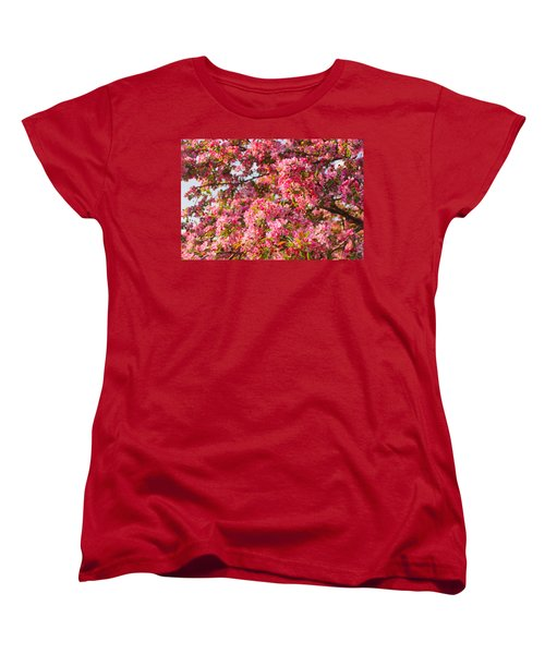 Cherry Blossoms In Washington D.c. Women's T-Shirt (Standard Cut) by Mitchell R Grosky