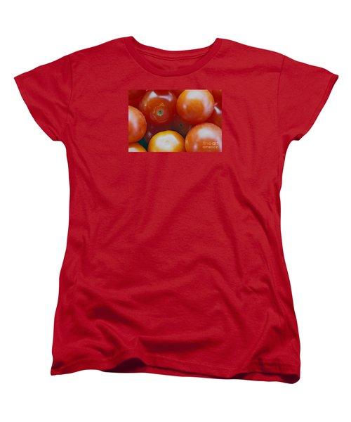 Women's T-Shirt (Standard Cut) featuring the photograph Cherry Tomatoes by Cassandra Buckley