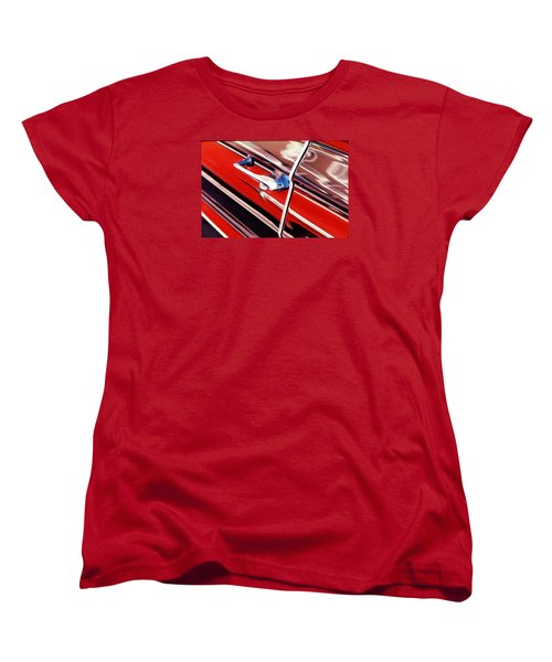 Women's T-Shirt (Standard Cut) featuring the photograph Chevy Or Caddie? by Ira Shander