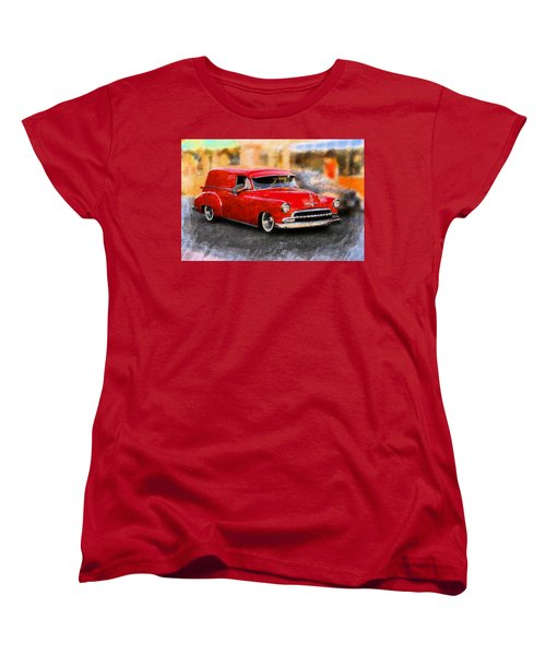 Vintage Car Women's T-Shirt (Standard Cut) featuring the photograph Chevy Street Rod by Aaron Berg