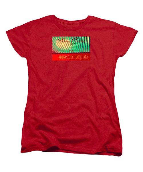 Chiefs Christmas Women's T-Shirt (Standard Cut) by Chris Berry