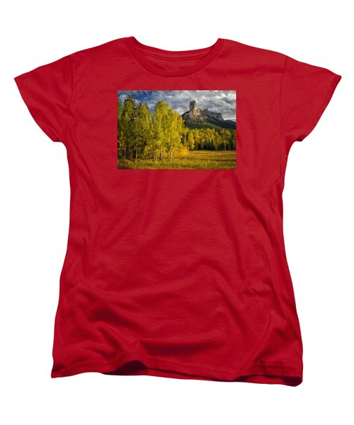 Chimney Rock San Juan Nf Colorado Img 9722 Women's T-Shirt (Standard Cut) by Greg Kluempers