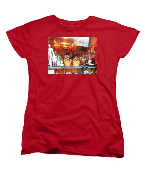 Women's T-Shirt (Standard Cut) featuring the photograph Chinatown Nyc Herb Shop by Joan Reese