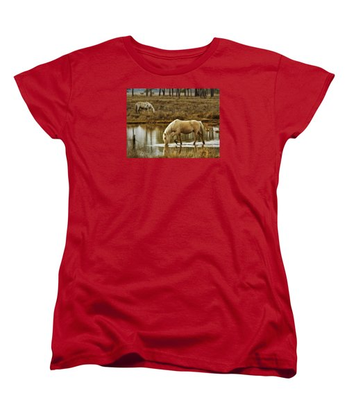 Women's T-Shirt (Standard Cut) featuring the photograph Chincoteague Gold by Joan Davis