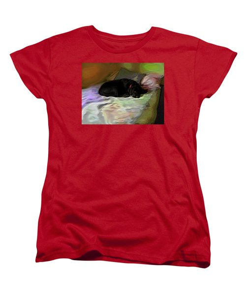 Women's T-Shirt (Standard Cut) featuring the mixed media Chopper Dreams Of Beds by Terence Morrissey