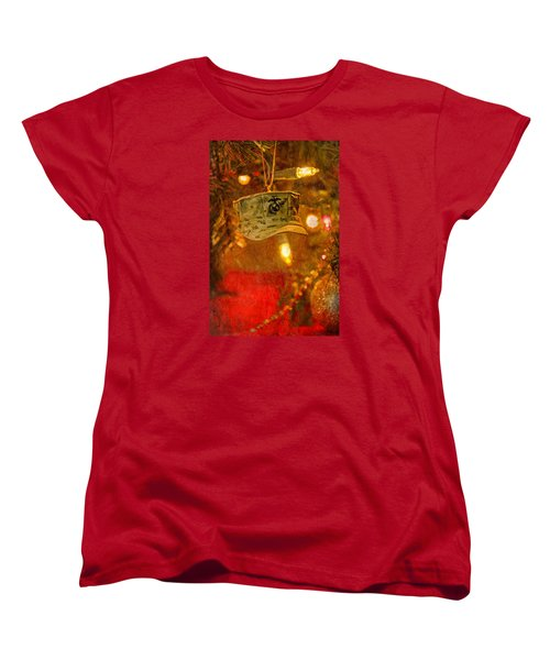 Christmas Cover  Women's T-Shirt (Standard Cut) by Susan  McMenamin