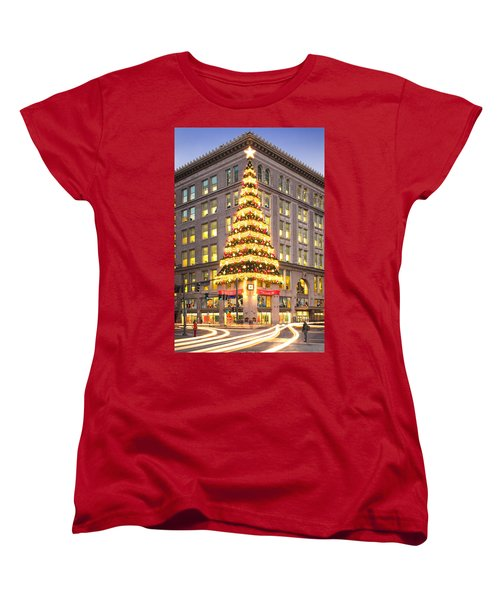 Christmas In Pittsburgh  Women's T-Shirt (Standard Cut) by Emmanuel Panagiotakis