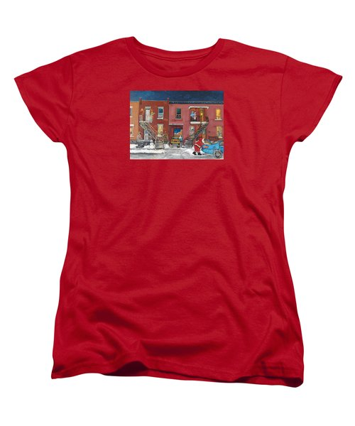 Christmas In The City Women's T-Shirt (Standard Cut) by Reb Frost