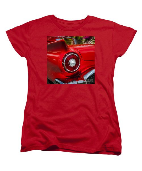 Women's T-Shirt (Standard Cut) featuring the photograph 1957 Ford Thunderbird Classic Car  by Jerry Cowart